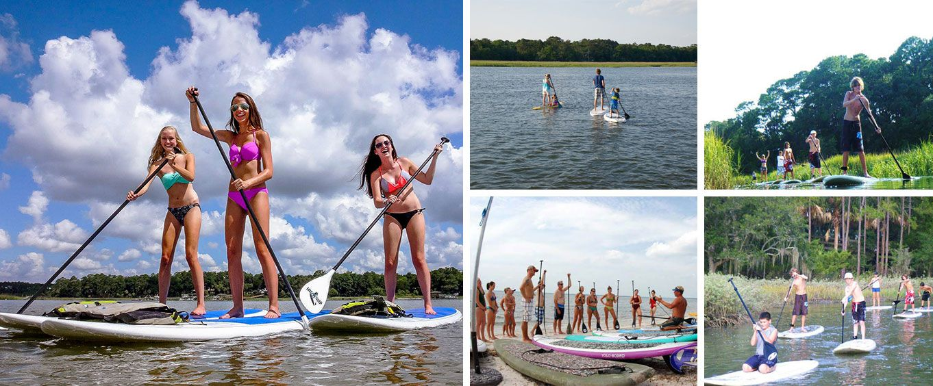 Hilton Head Island Stand Up Paddleboarding Tour Collage