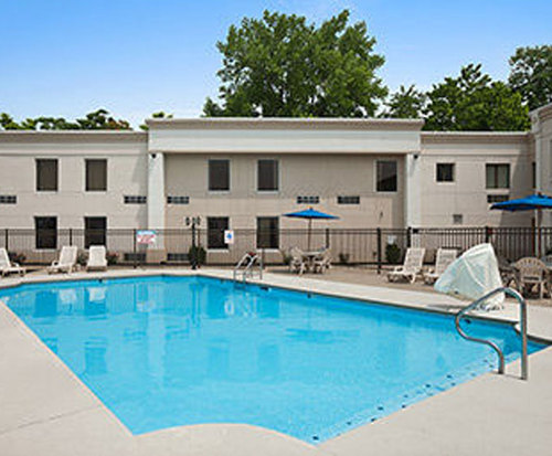 Outdoor Pool at Days Inn Cincinnati OH
