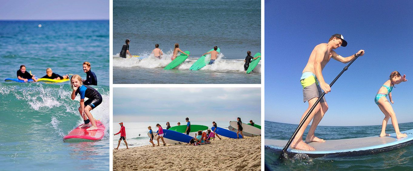 Outer Banks Private Surf Lesson Collage