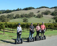 Family touring Dry Creek Valley