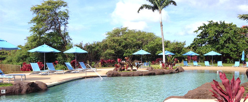 Outdoor Swimming Pool of Castle Kiahuna Plantation