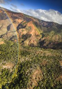 Rainbows have been known to make appearances over Waimea Canyon