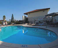 Outdoor Pool at Best Western Sandman Motel