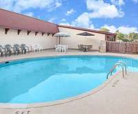 Outdoor Swimming Pool of Knights Inn Battle Creek Mi