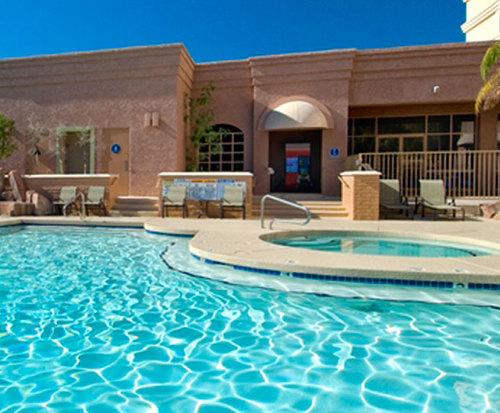 Outdoor Pool at Hilton Phoenix East Mesa
