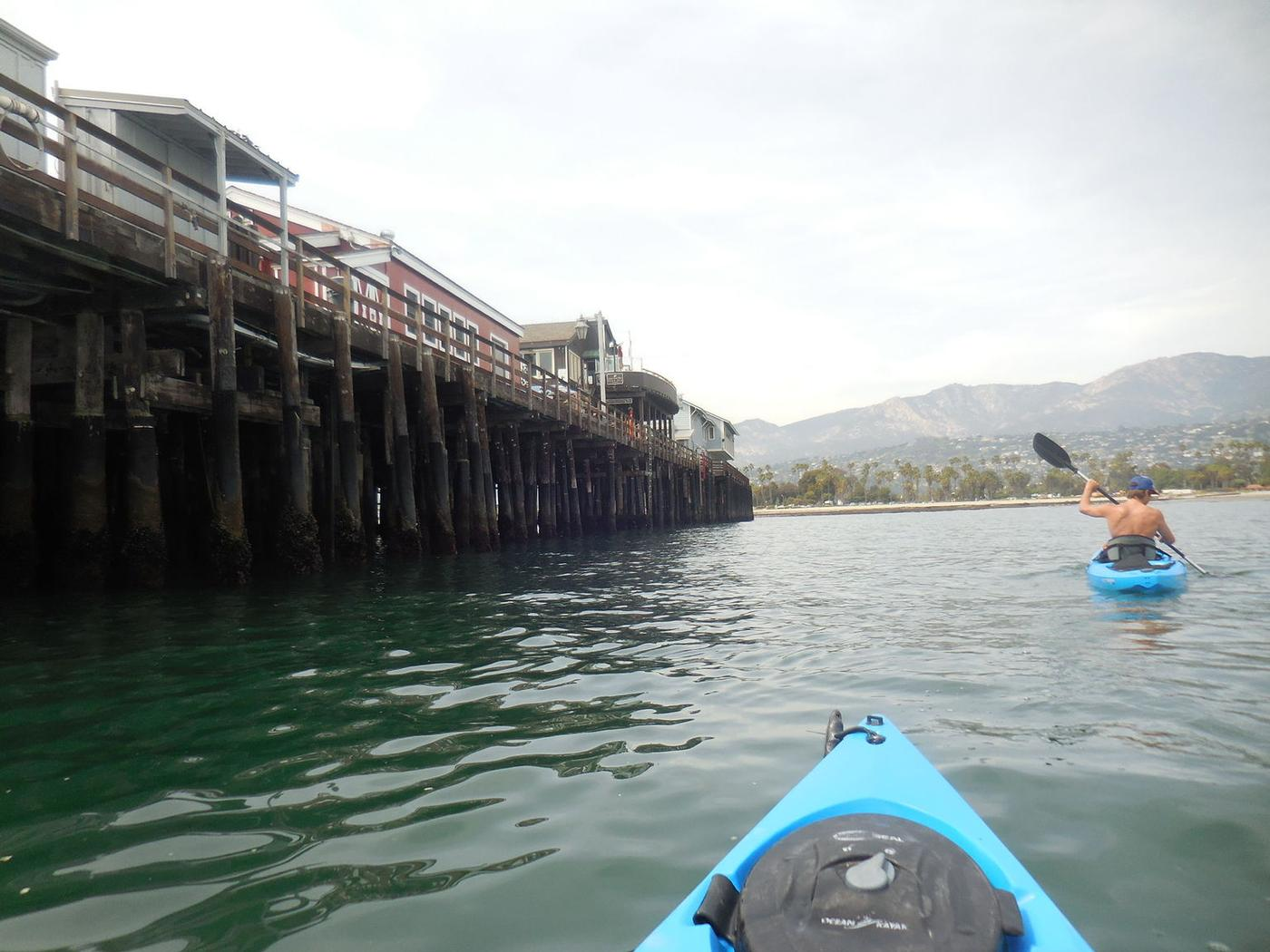 Checking out the Stearns Wharf off the Santa Barbara coast.
