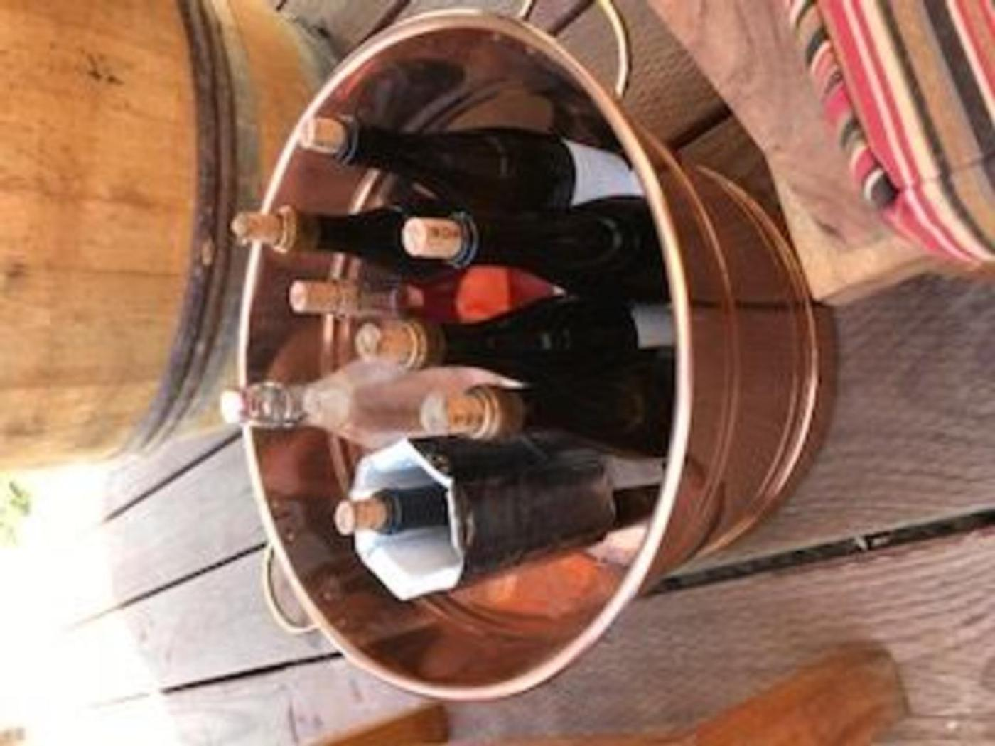 Wine tasting at Pence Vineyards