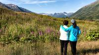 Taking in the beauty of the Alaskan backcountry