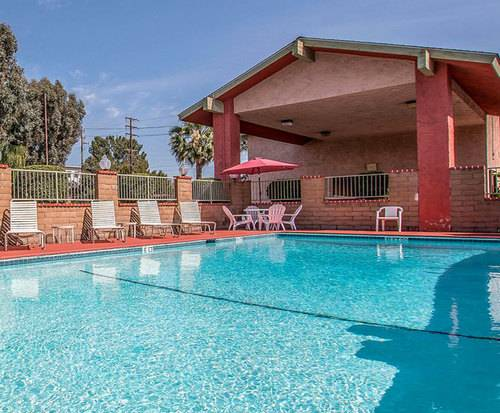Outdoor Pool at Econo Lodge North Anaheim