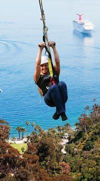 Zipline on Catalina Island