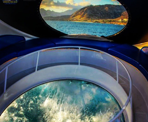 Glassbottom Boat Tour and Snorkel on the Island of Oahu in Kapolei, Hawaii, glass bottom boat tour