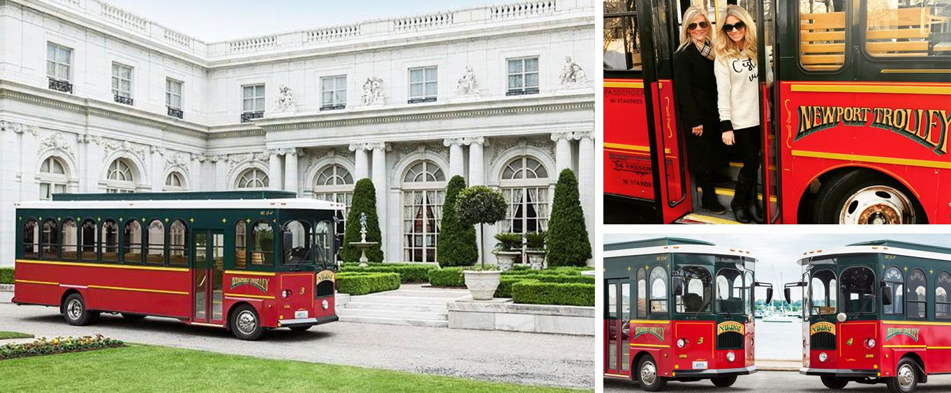 Grand Mansion of Newport Viking Trolley Tour Collage