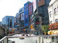Dundas Square - Toronto, from Hop-on Hop-off bus