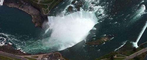 Overhead View of the Falls with the Niagara Falls Grand Helicopter Tour