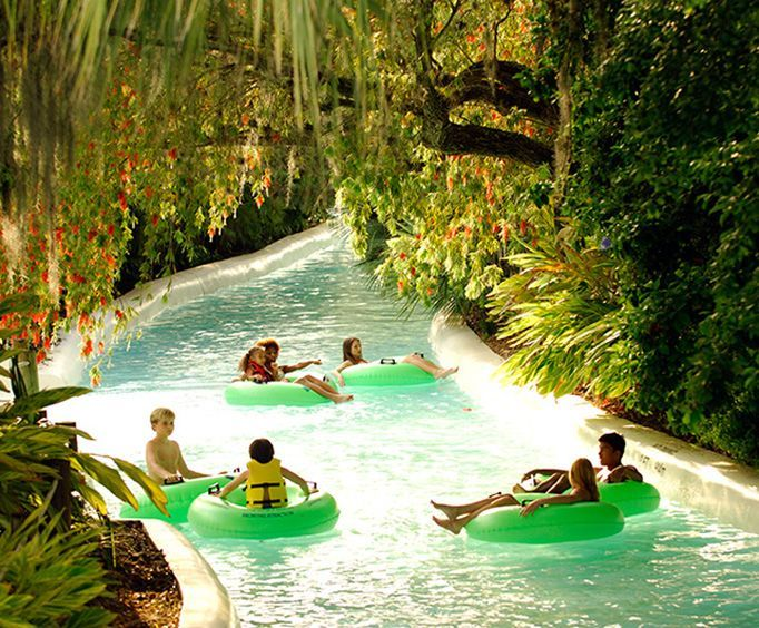 Lazy River at Adventure Island Waterpark Tampa