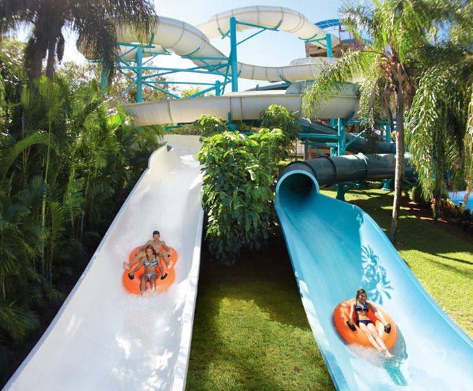 Side By Side Slides at Adventure Island Waterpark