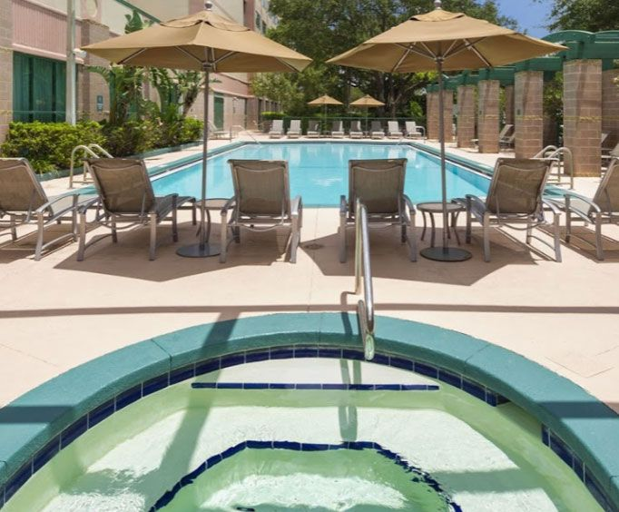 Outdoor Pool at Embassy Suites Busch Gardens