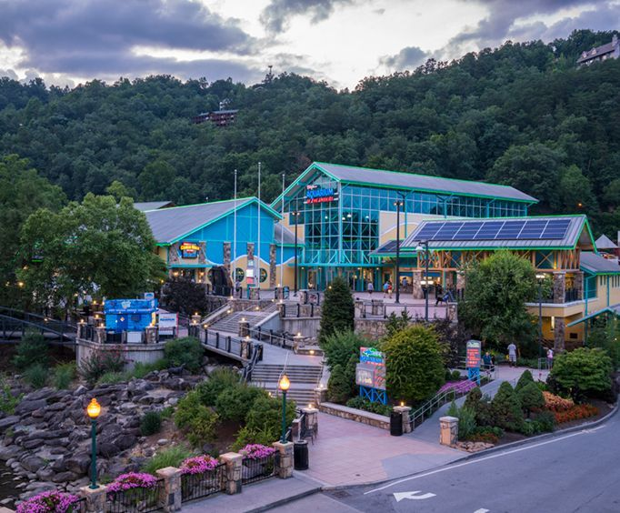 Outside the Ripleys Aquarium of the Smokies