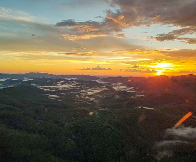 Beautiful Sunset over the Smoky Mountains