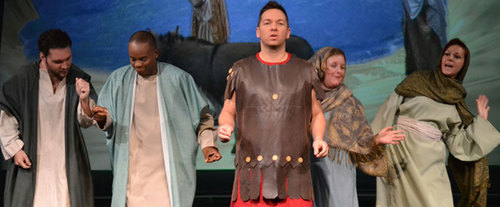 Moses Mountain of God Dinner Show at Biblical Times Dinner Theatre, Christian productio