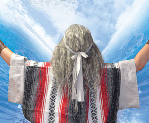 Moses Mountain of God Dinner Show at Biblical Times Dinner Theatre, parting red sea
