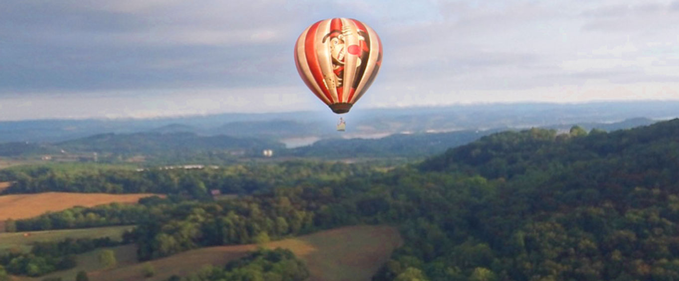 Aerial view of balloon