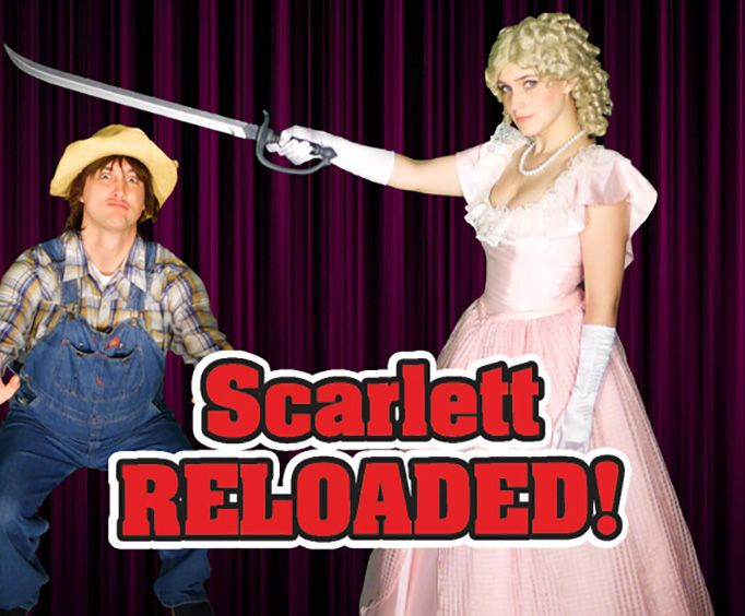 Actress with Swoard at Scarlett Reloaded Dinner and Show