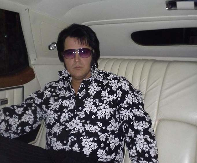 Elvis Sits in a Limo