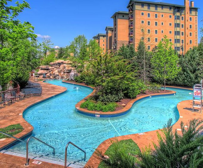 Outdoor Pool at RiverStone Resort  Spa