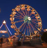 Enjoy festive activities on the Kemah Boardwalk.