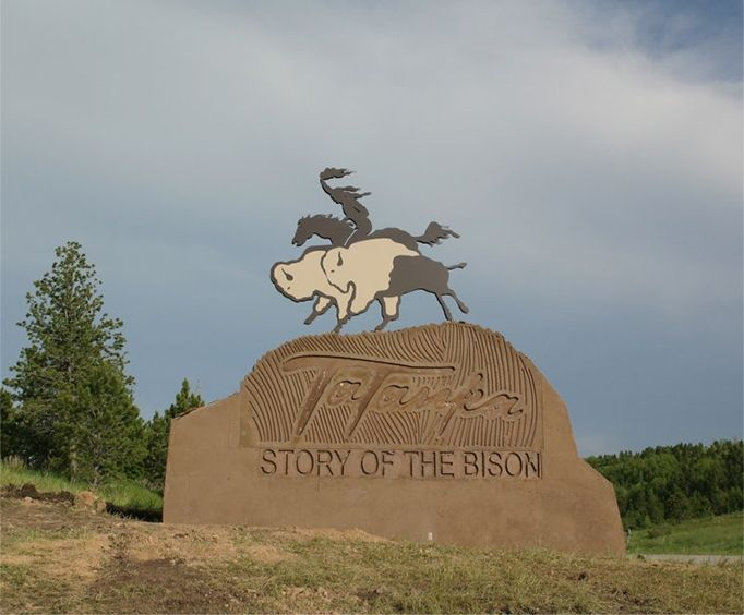 Sign for Tatanka Story of the Bison