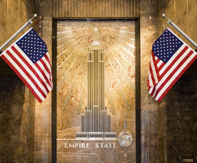Exhibits in the Empire State Building