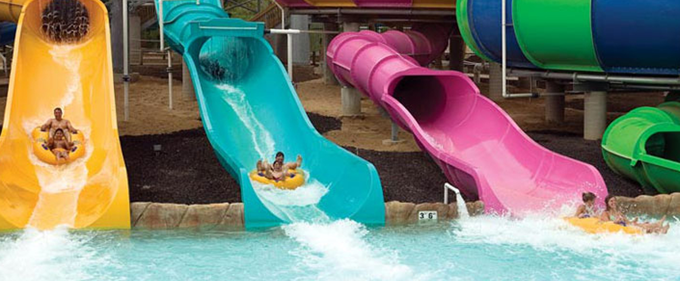Exciting waterslides