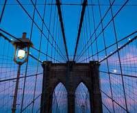 New York Nights Brooklyn Bridge