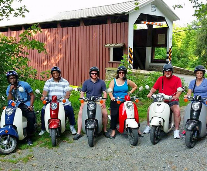 Small Group Strasbug Covered Bridge Tour by Single Seat Scooter