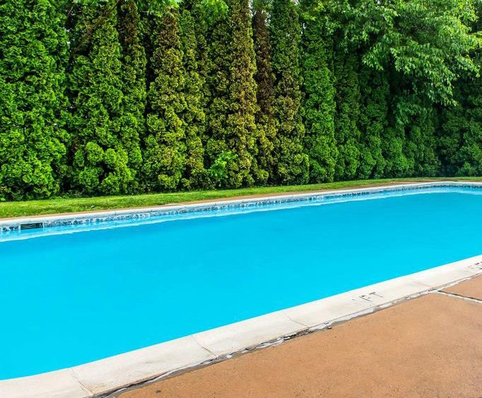 Outdoor Pool at Rodeway Inn Amish Country