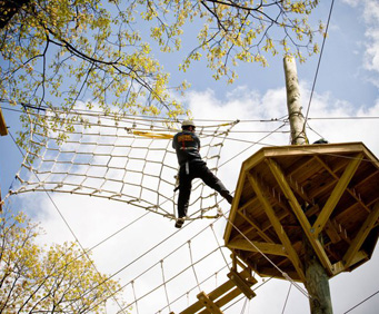 Lancaster Zipline at Refreshing Mountain Camp rope obstacles