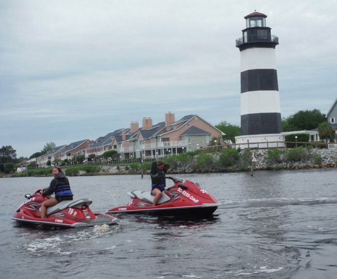 Two Jet Skis with Action Water Sportz Jet Ski Rental
