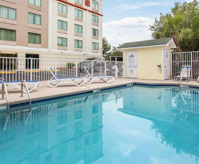 Outdoor Swimming Pool of Quality Inn  Suites North Myrtle Beach SC