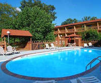Outdoor Pool at Econo Lodge Inn & Suites Hot Springs AR