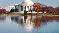 Jefferson memorial reflected on the tidal basin