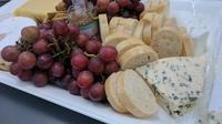 cheese and grapes tasting plate