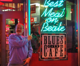 Blues City Caf - Sign
