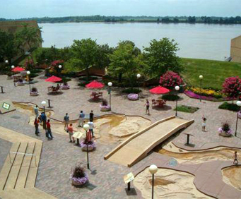 Mud Island River Park - View of Park & Water