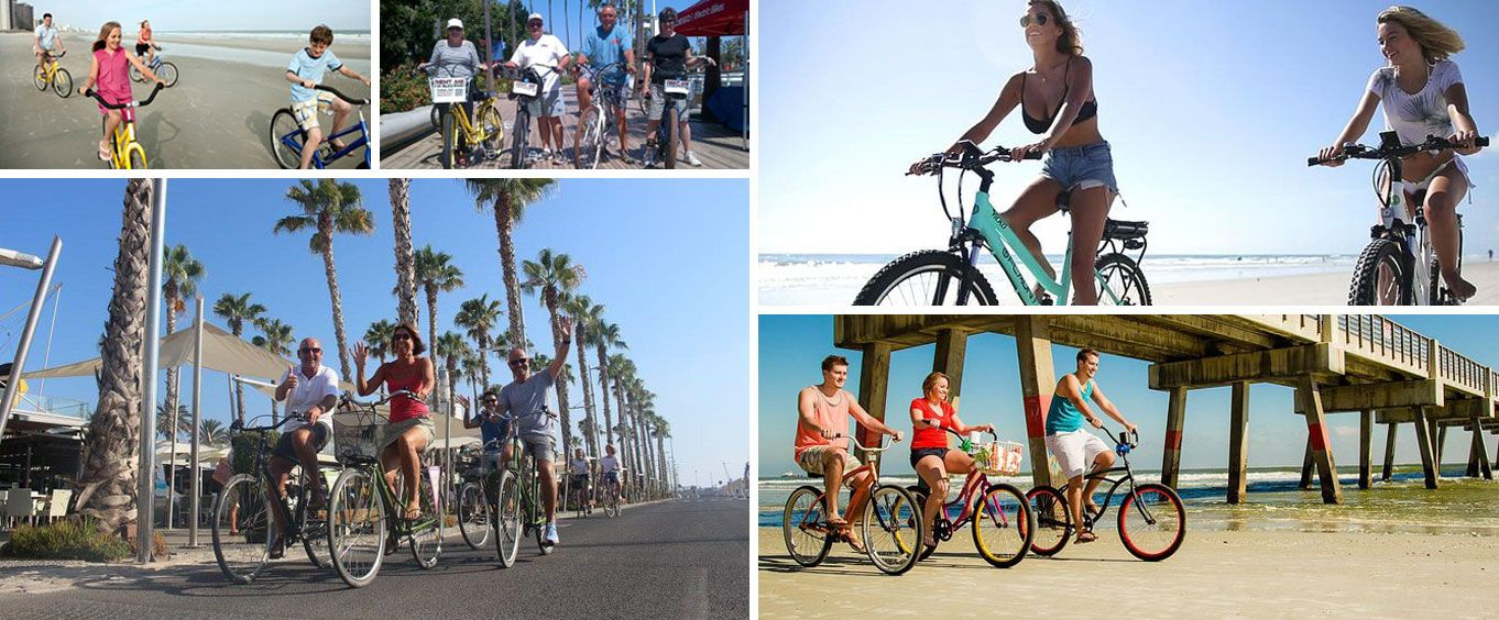 All Day Cocoa Beach Bike Rental Collage
