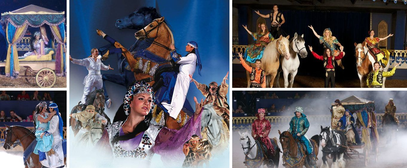 Arabian Nights Dinner Attraction Collage