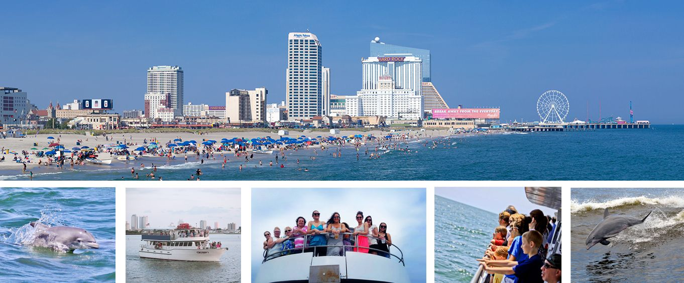 Historical Atlantic City Skyline & Boardwalk Sightseeing Cruise Collage