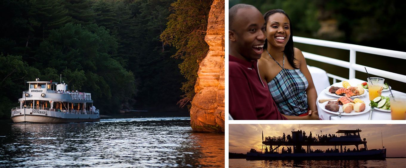 Enjoy the Wisconsin Dells Sunset Dinner Cruise