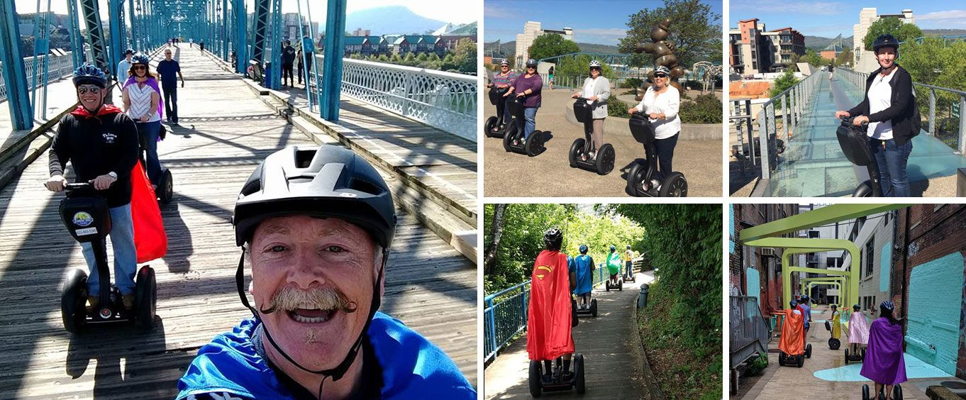 Chattanooga's North Shore and Coolidge Park Tour by Segway Collage