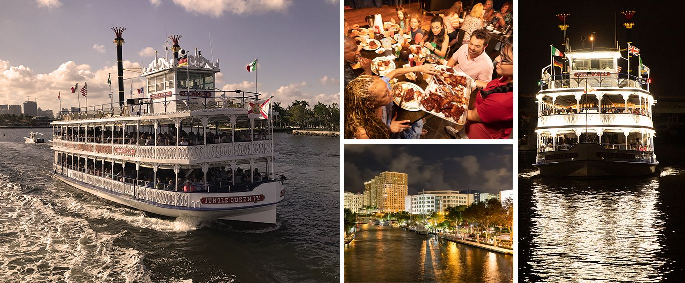 Enjoy the Jungle Queen Riverboat Fort Lauderdale Sightseeing and Dinner Cruises